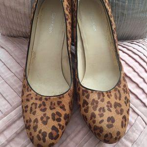 Calvin Klein Leopard Print Heels